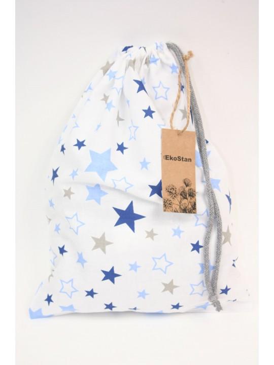 worek bawełniany gwiazdy na białym tle