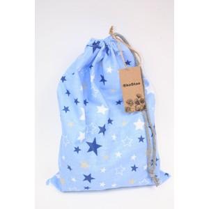 worek bawełniany gwiazdy na niebieskim tle
